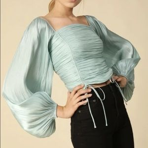 Line & Dot 'Peyton' top in Mint, size XS